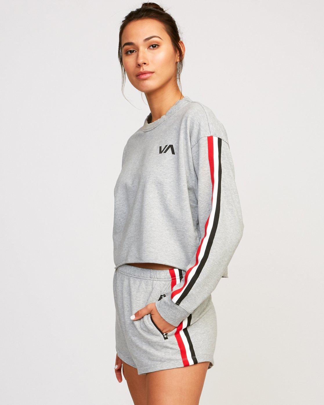 1 Ringside Sweatshirt Grey T701URRS RVCA