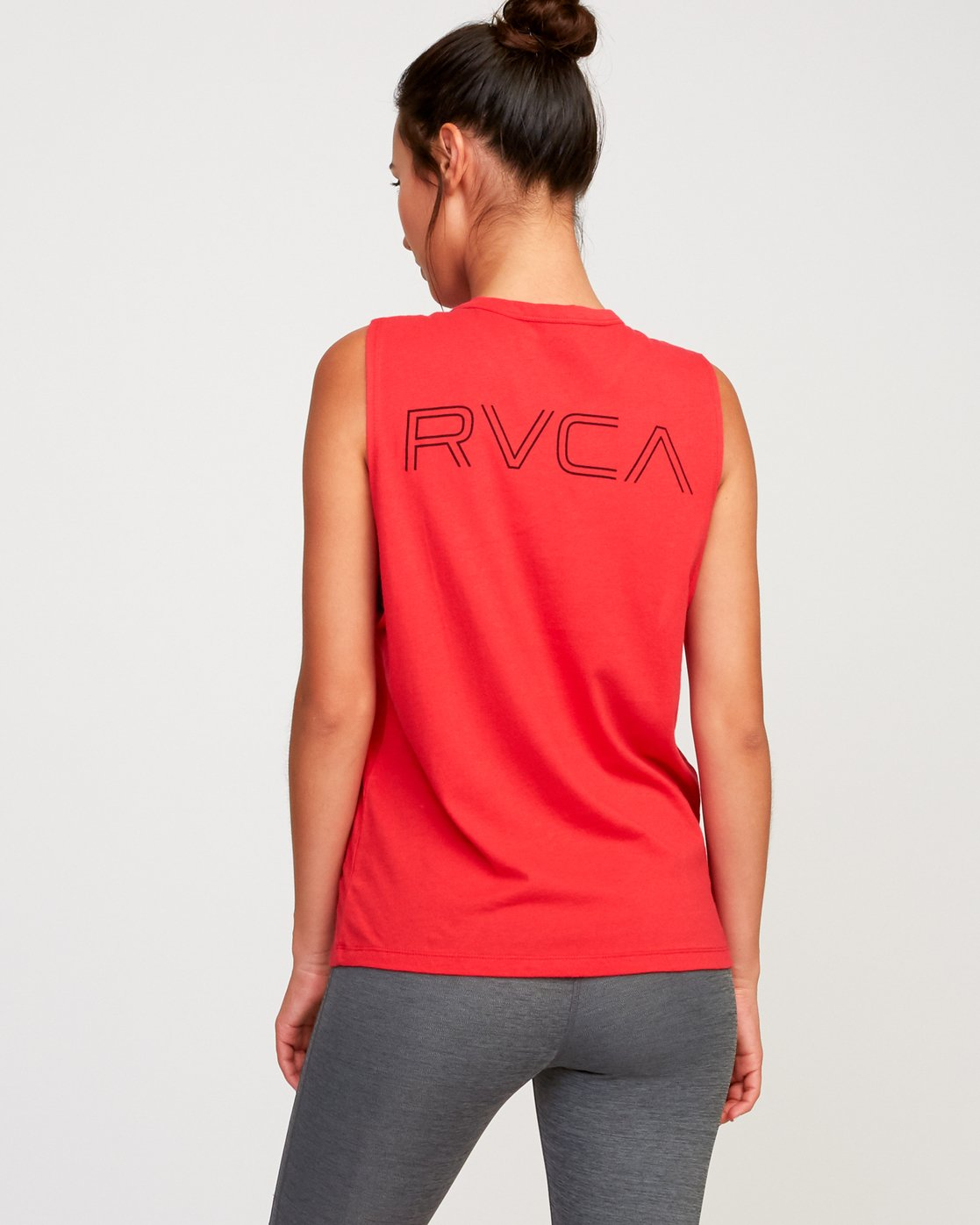 2 Train Sleeveless Sport Tank Top Red T902TRVT RVCA