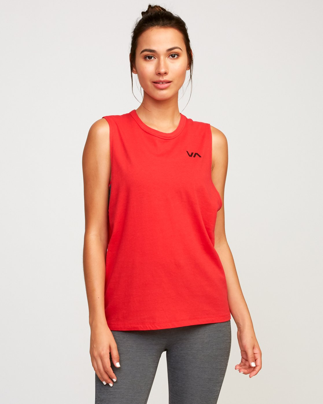 0 Train Sleeveless Sport Tank Top Red T902TRVT RVCA