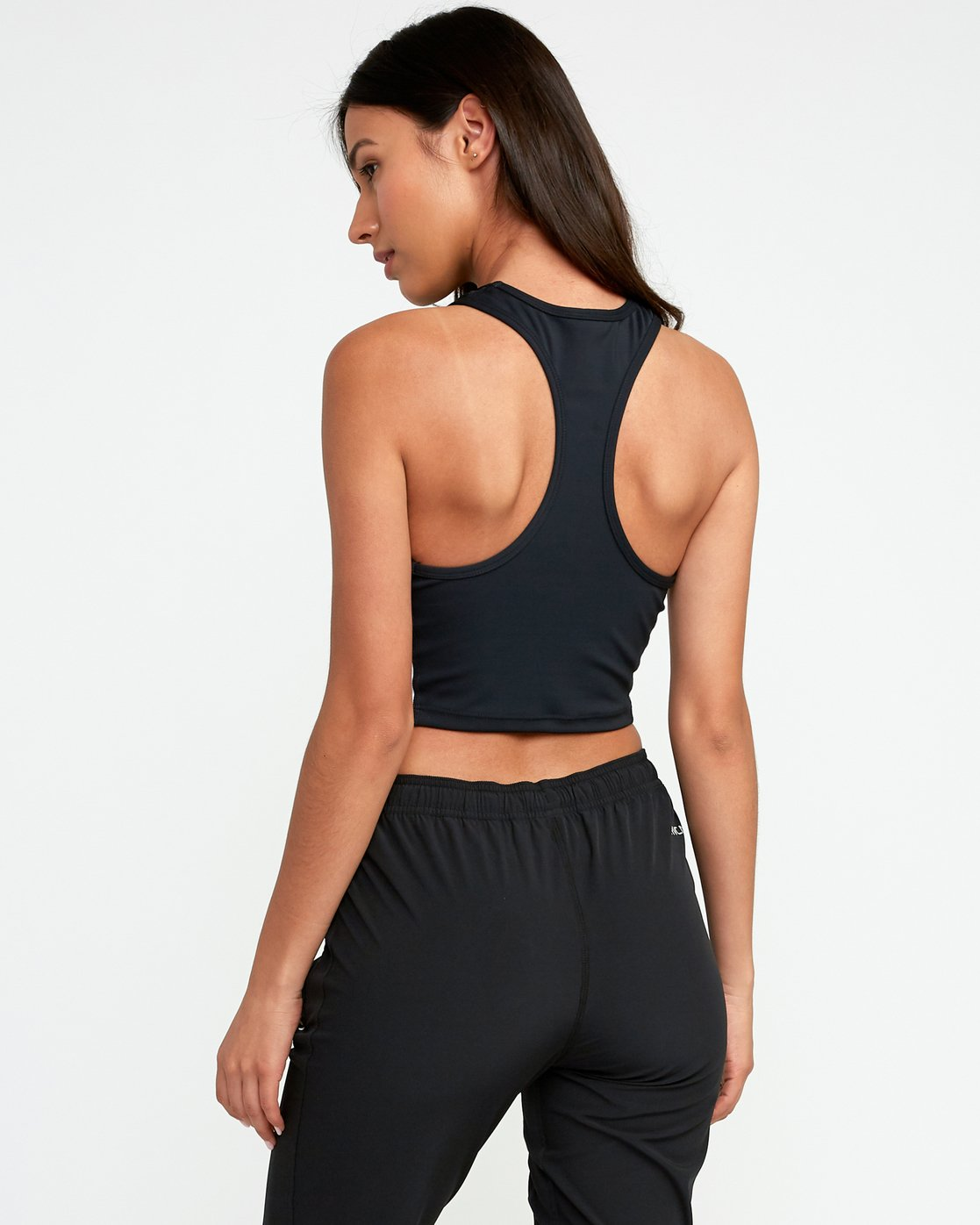 3 Edge Sport Crop Top Black T904TREC RVCA