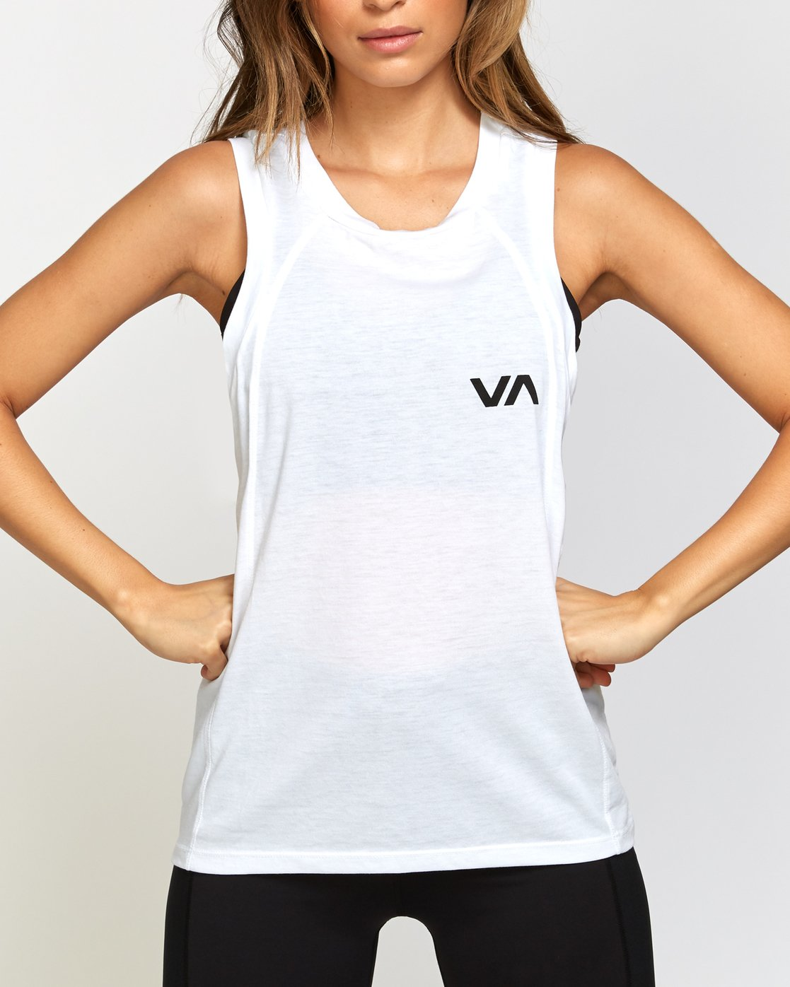 3 Dione Muscle Tank Top White T905VRRM RVCA