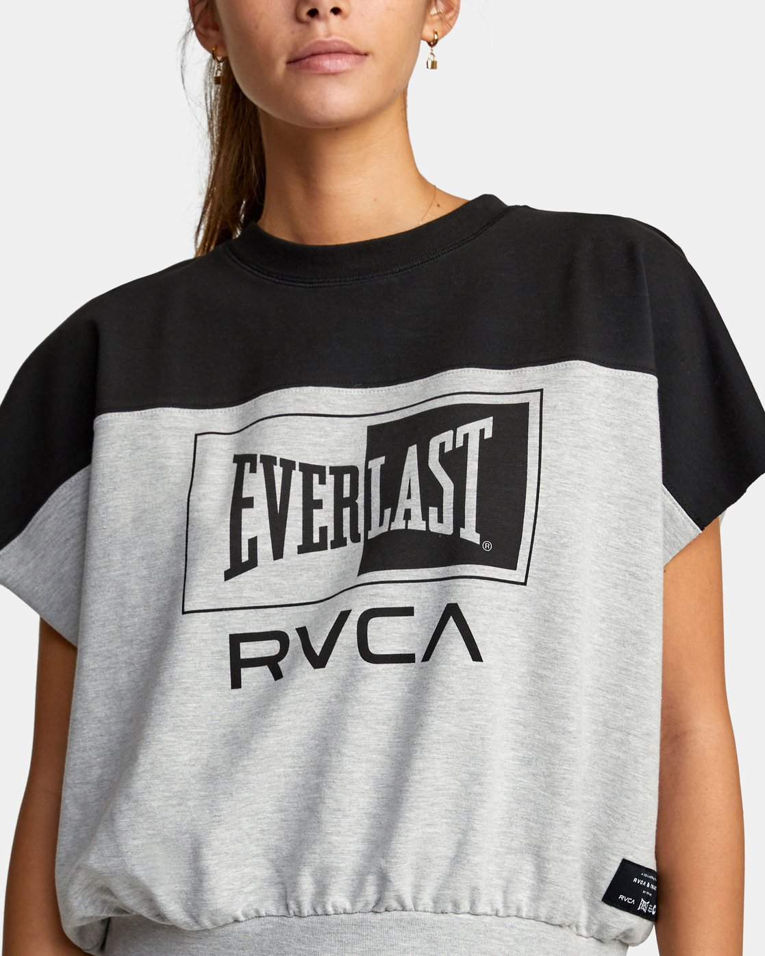 2 EVERLAST DOLMAN SPORT TOP Grey T9073RET RVCA