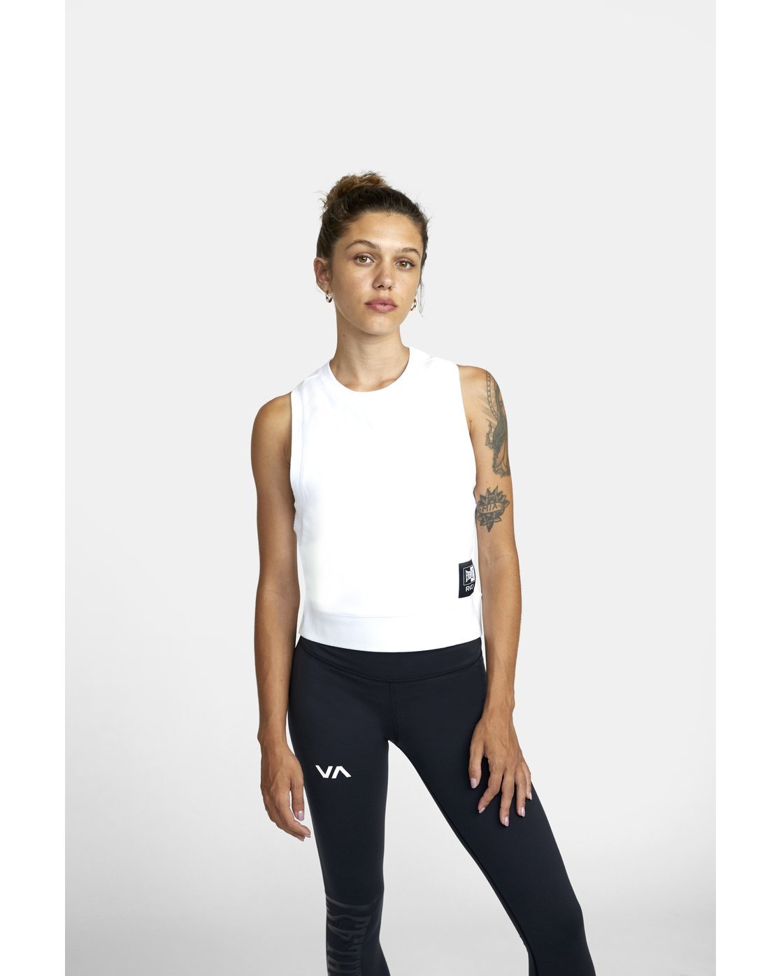 1 EVERLAST FLEECE WORKOUT TANK TOP White T9093RET RVCA