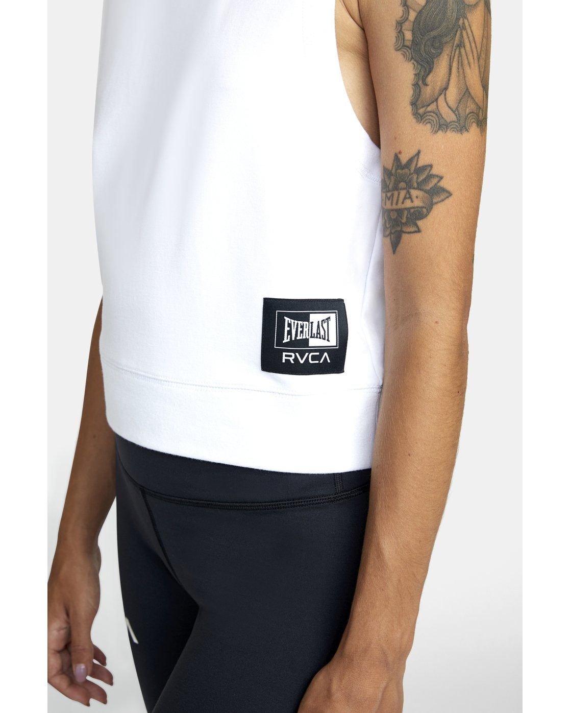 5 EVERLAST FLEECE WORKOUT TANK TOP White T9093RET RVCA