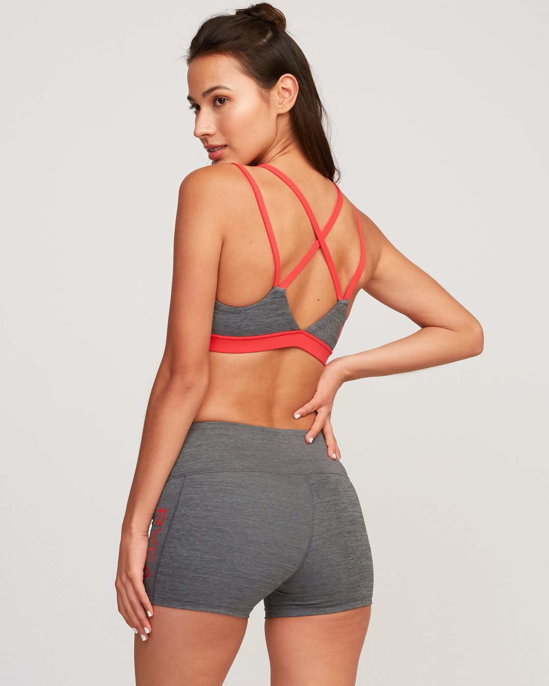 1 Ignight Strappy Sports Bra Red TQ01TRIS RVCA