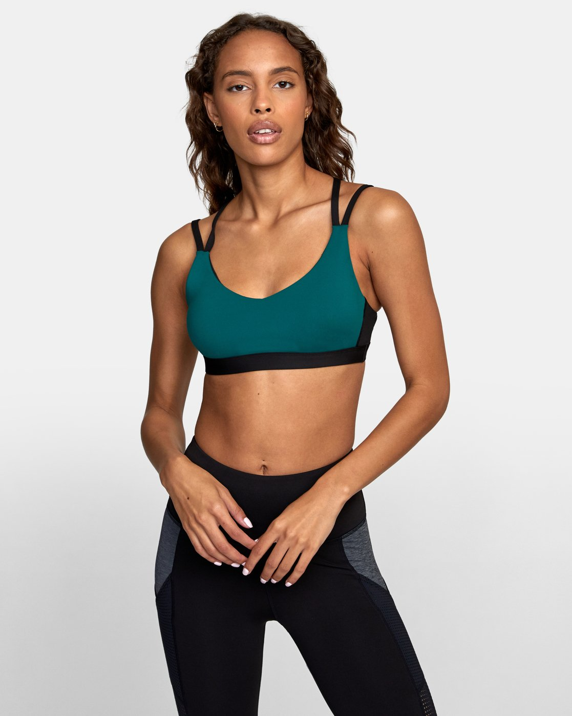 0 Ignight Strappy Sports Bra Blue TQ01TRIS RVCA