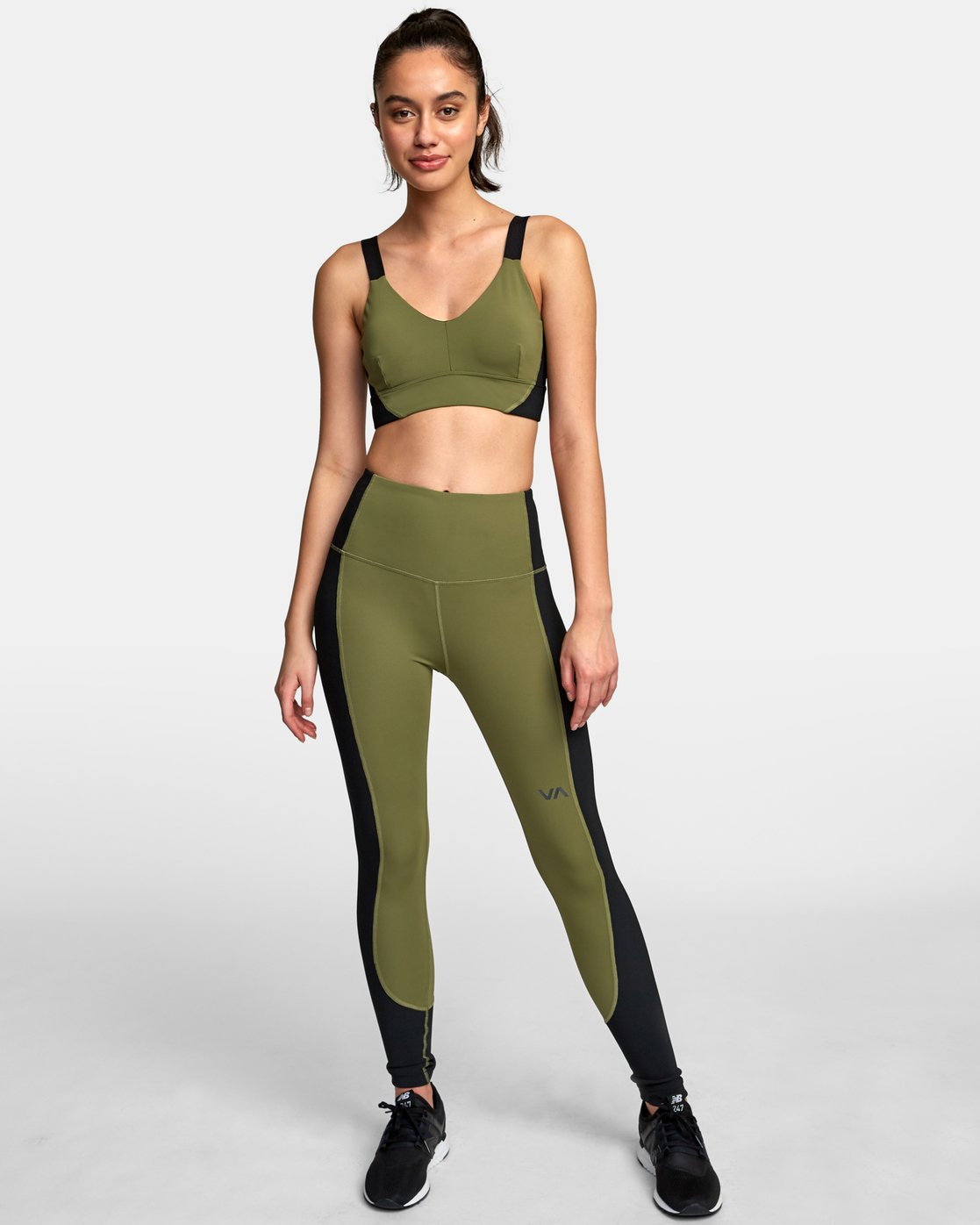 3 VA Ultra Sports Bra Green TQ01VRUB RVCA