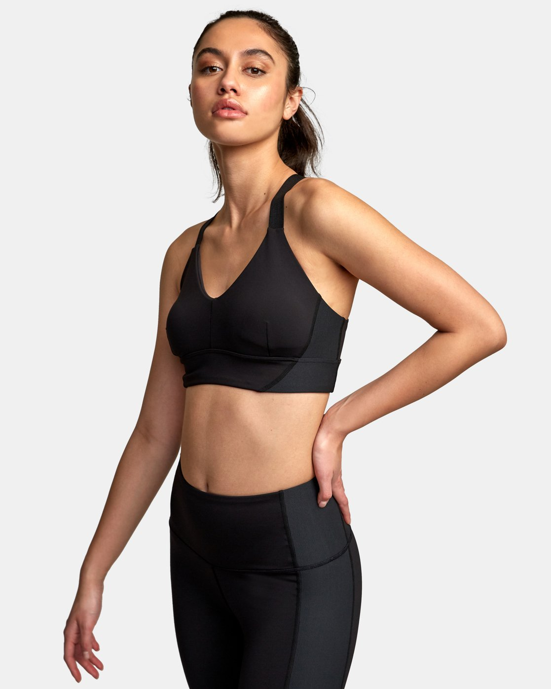 1 VA Ultra Sports Bra Black TQ01VRUB RVCA