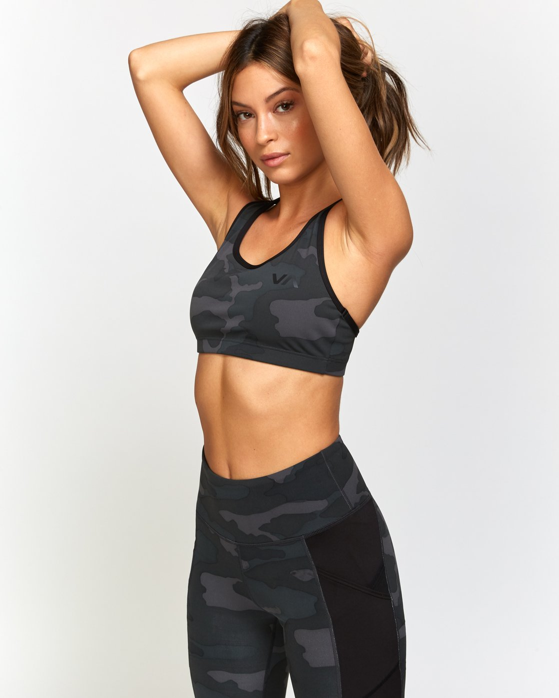 1 VA Takedown Sports Bra Brown TQ02TRTD RVCA