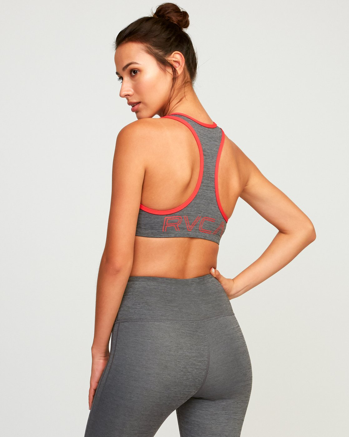 3 VA Takedown Sports Bra Grey TQ02TRTD RVCA