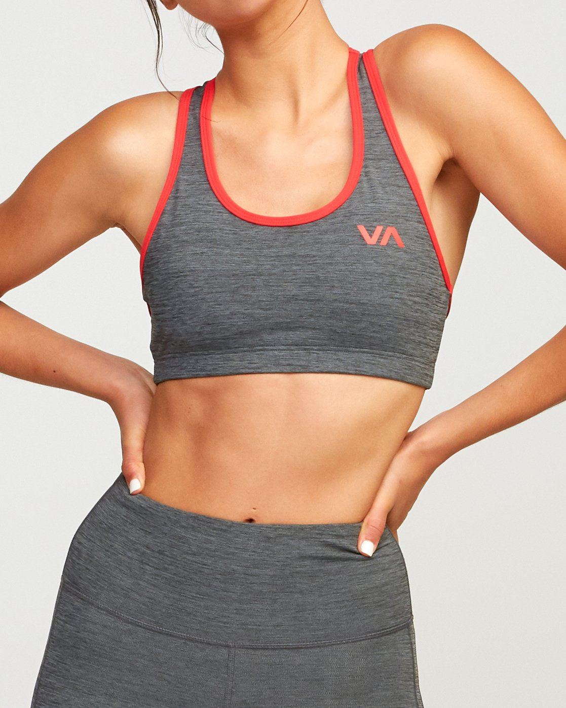 4 VA Takedown Sports Bra Grey TQ02TRTD RVCA