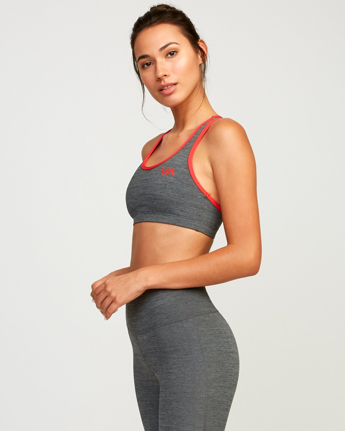 2 VA Takedown Sports Bra Grey TQ02TRTD RVCA
