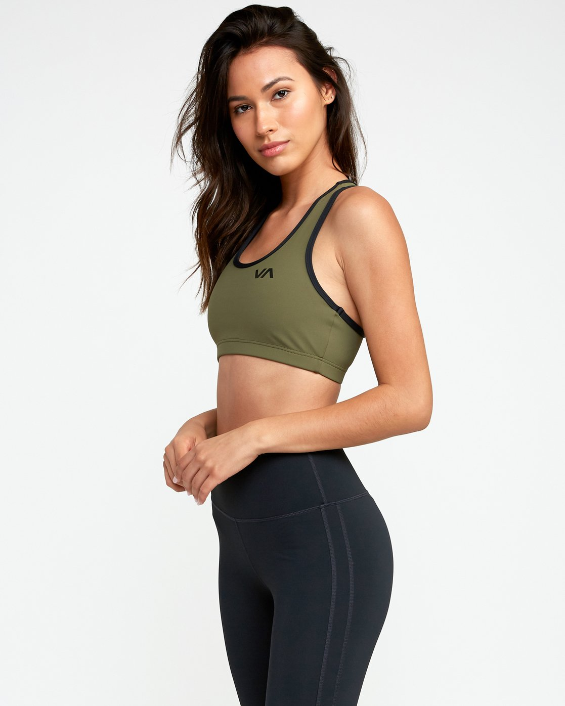 2 VA Takedown Sports Bra Green TQ02TRTD RVCA