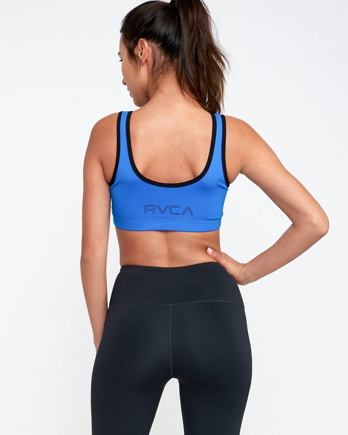 3 VA Zip Sports Bra Blue TQ03TRZI RVCA