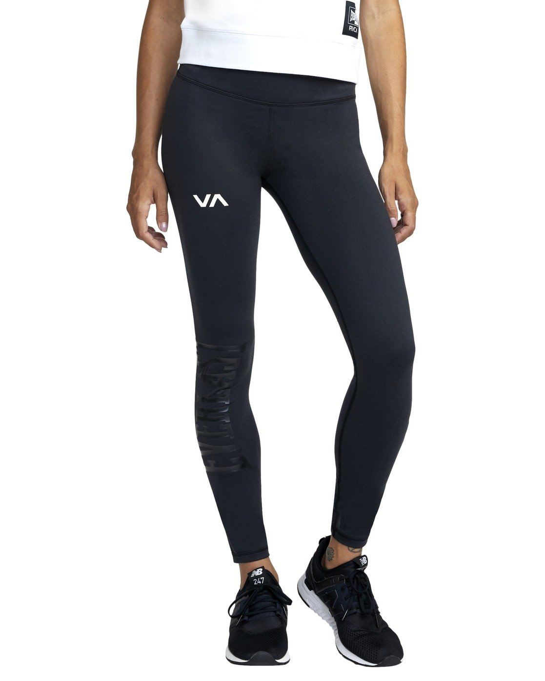 6 EVERLAST SPORT WORKOUT LEGGING Black TQ163REL RVCA