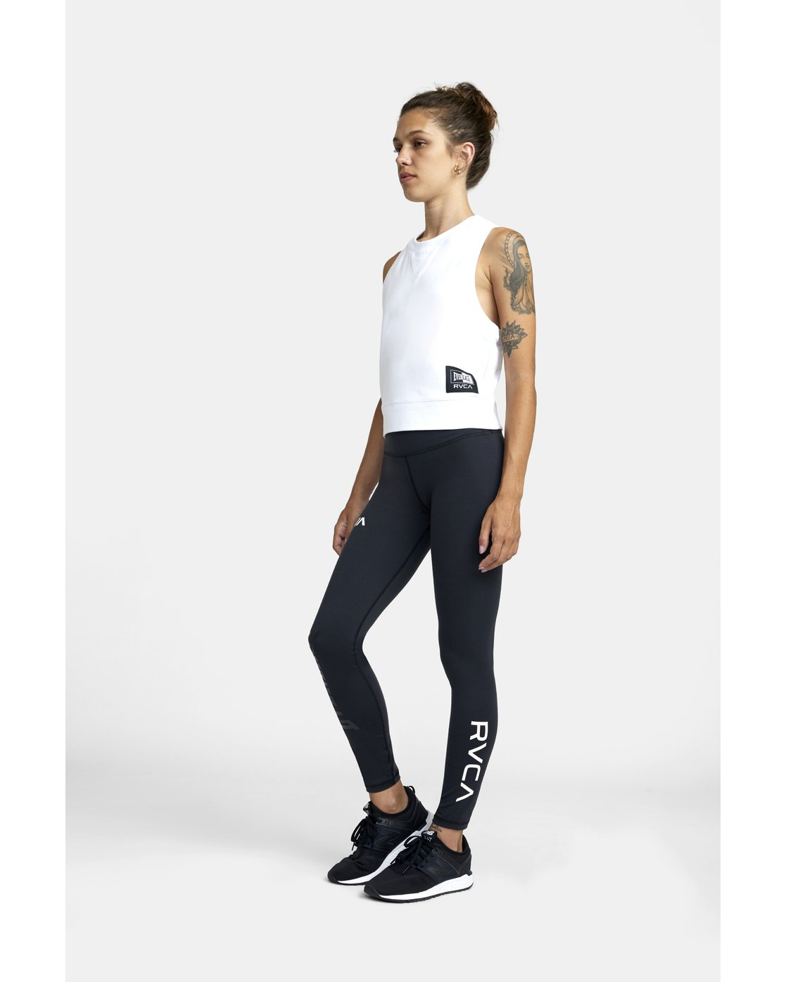 2 EVERLAST SPORT WORKOUT LEGGING Black TQ163REL RVCA