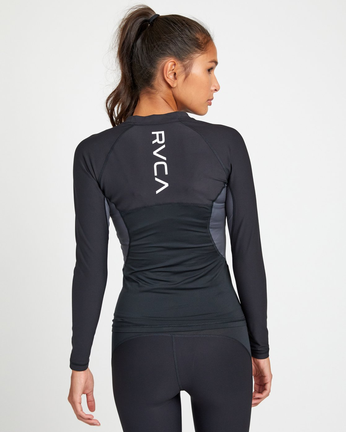 4 COMPRESSION LONG SLEEVE RASHGUARD Black TR011RCL RVCA