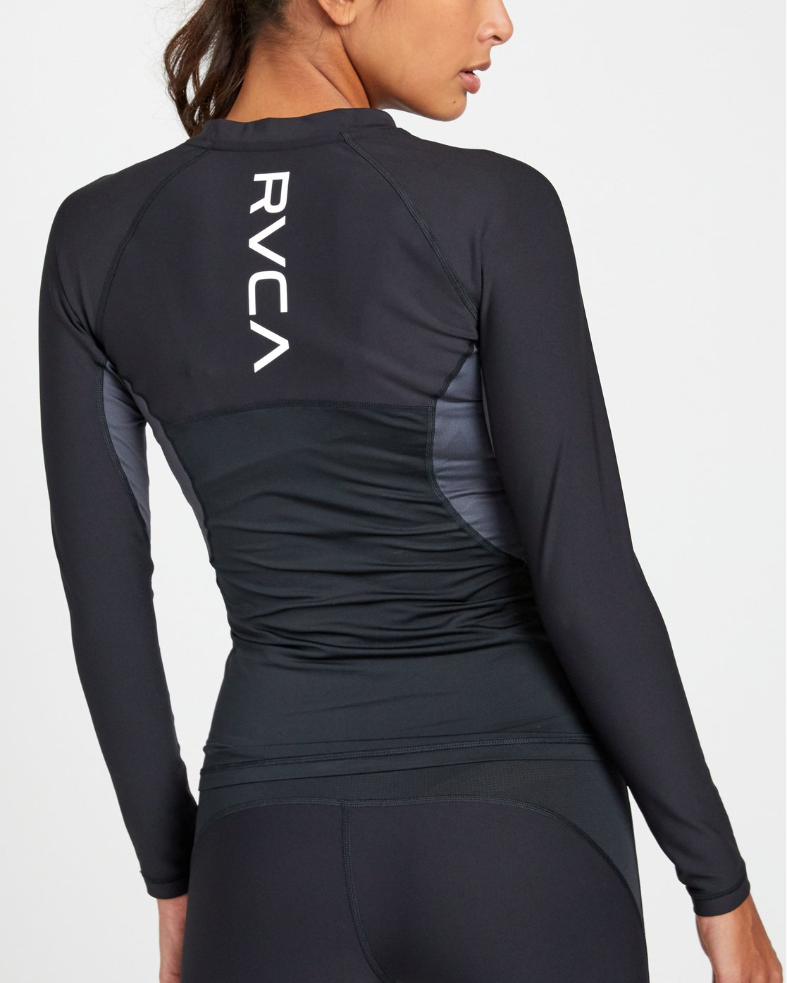 8 COMPRESSION LONG SLEEVE RASHGUARD Black TR011RCL RVCA