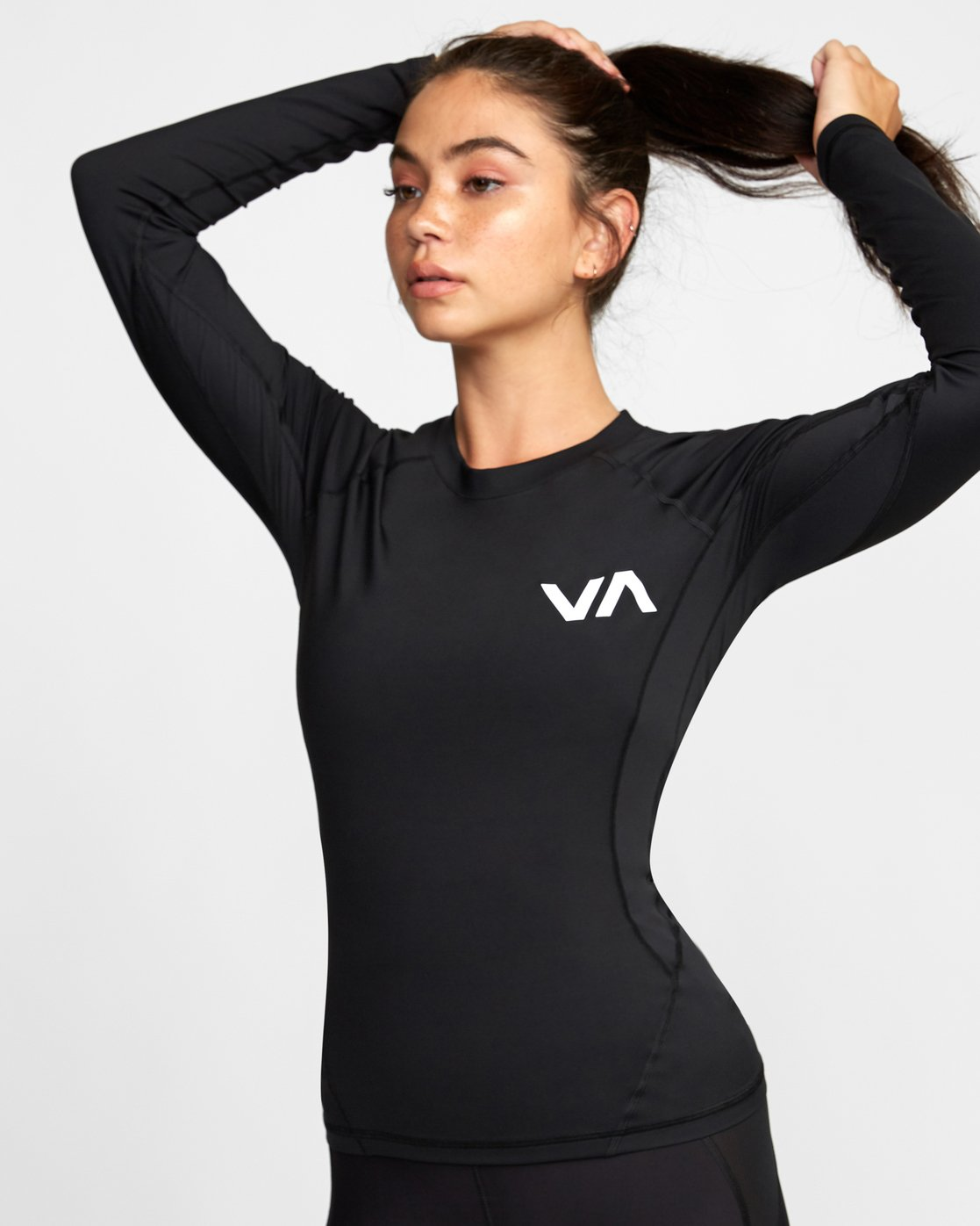 5 COMPRESSION LONG SLEEVE RASHGUARD Black TR011RCL RVCA
