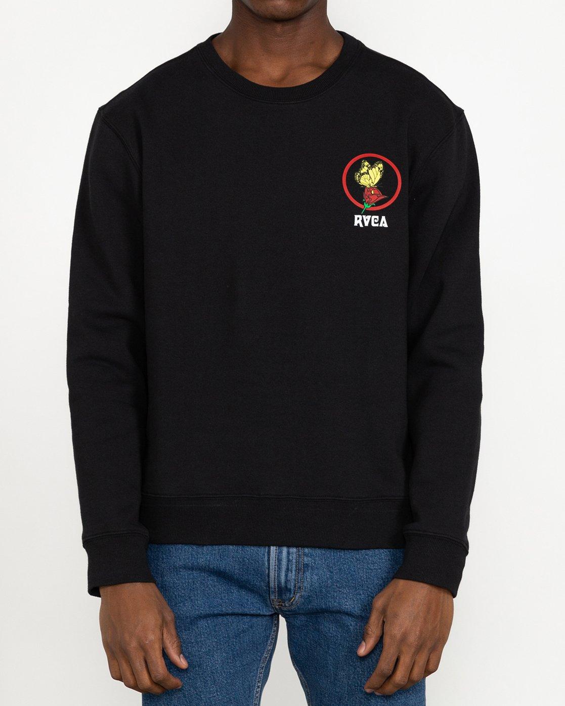 4 Nothing - Sweatshirt for Men Black U1CRRARVF0 RVCA