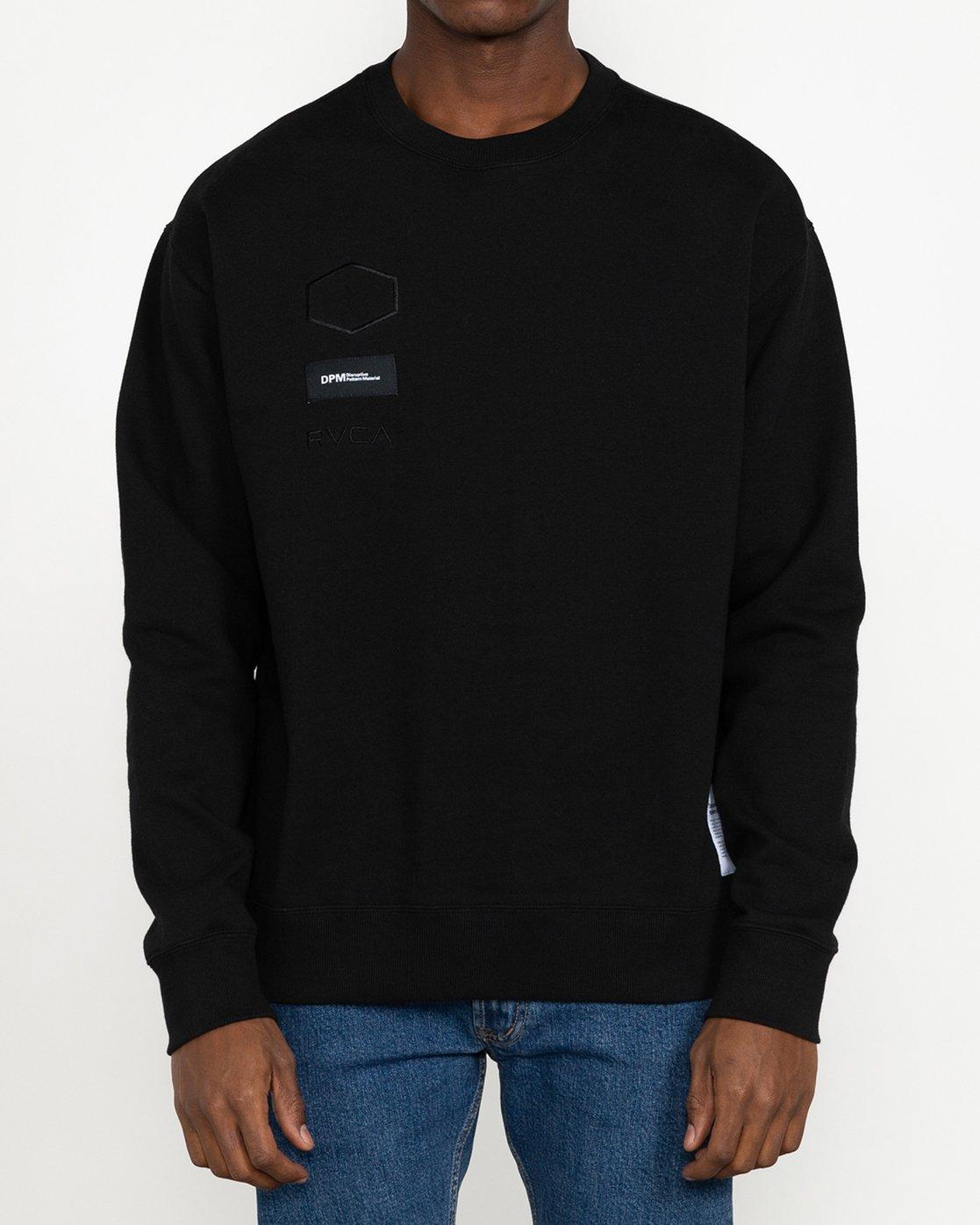 6 DPM - Sweatshirt for Men Black U1CRRFRVF0 RVCA