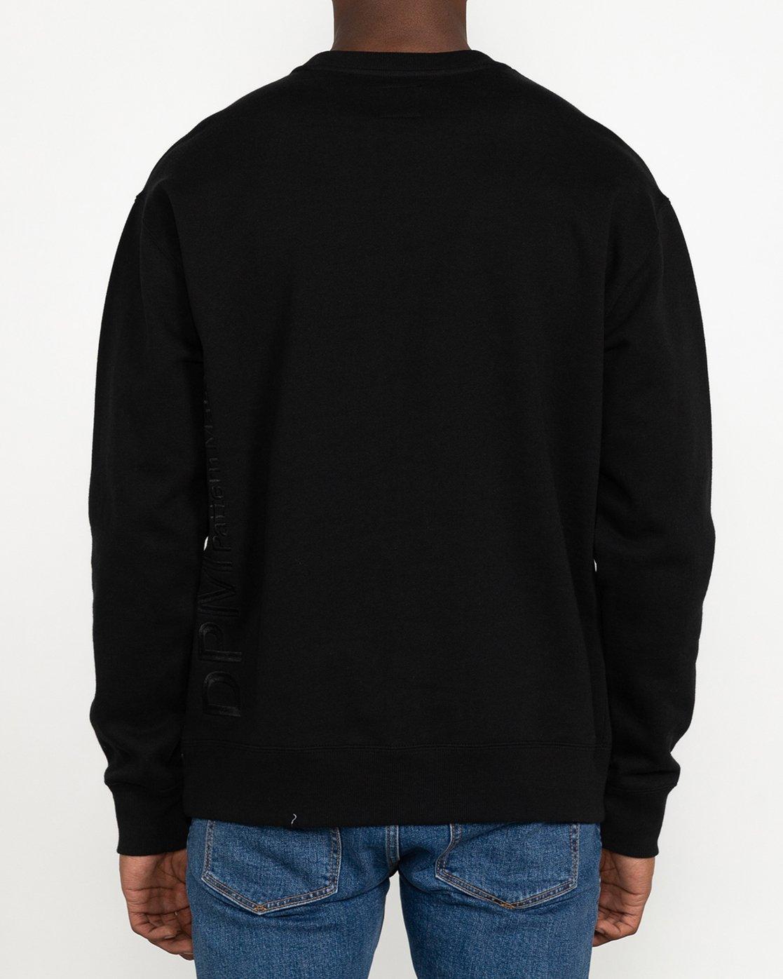 5 DPM - Sweatshirt for Men Black U1CRRFRVF0 RVCA