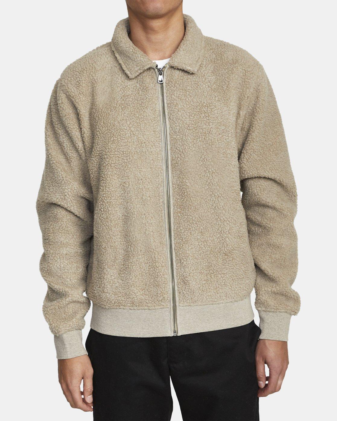 0 Erie Zip - Sherpa Jacket for Men Green U1FLVDRVF0 RVCA