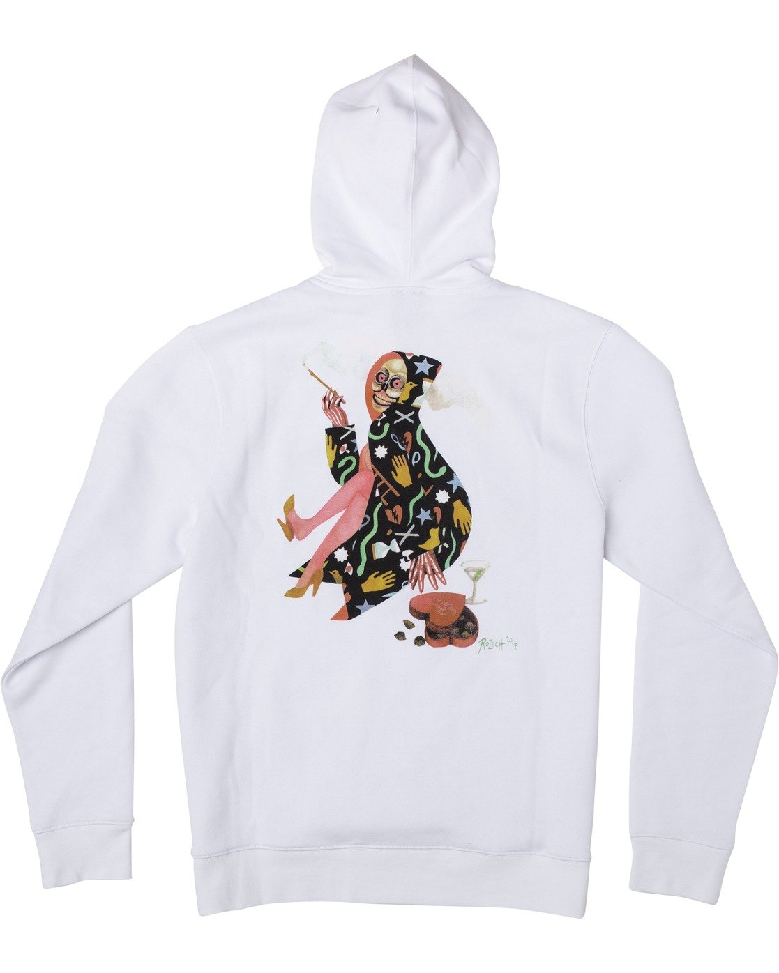1 Stacey Rozich The Gorgeous Hussy - Hoodie for Men White U1HORCRVF0 RVCA