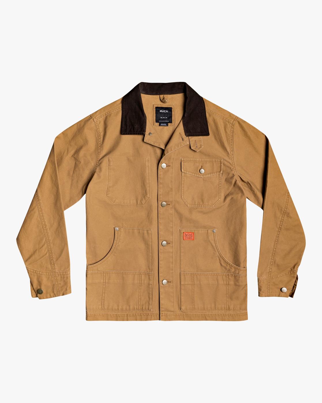 2 Chainmail - Jacke mit Knopfleiste für Männer Gelb U1JKRBRVF0 RVCA