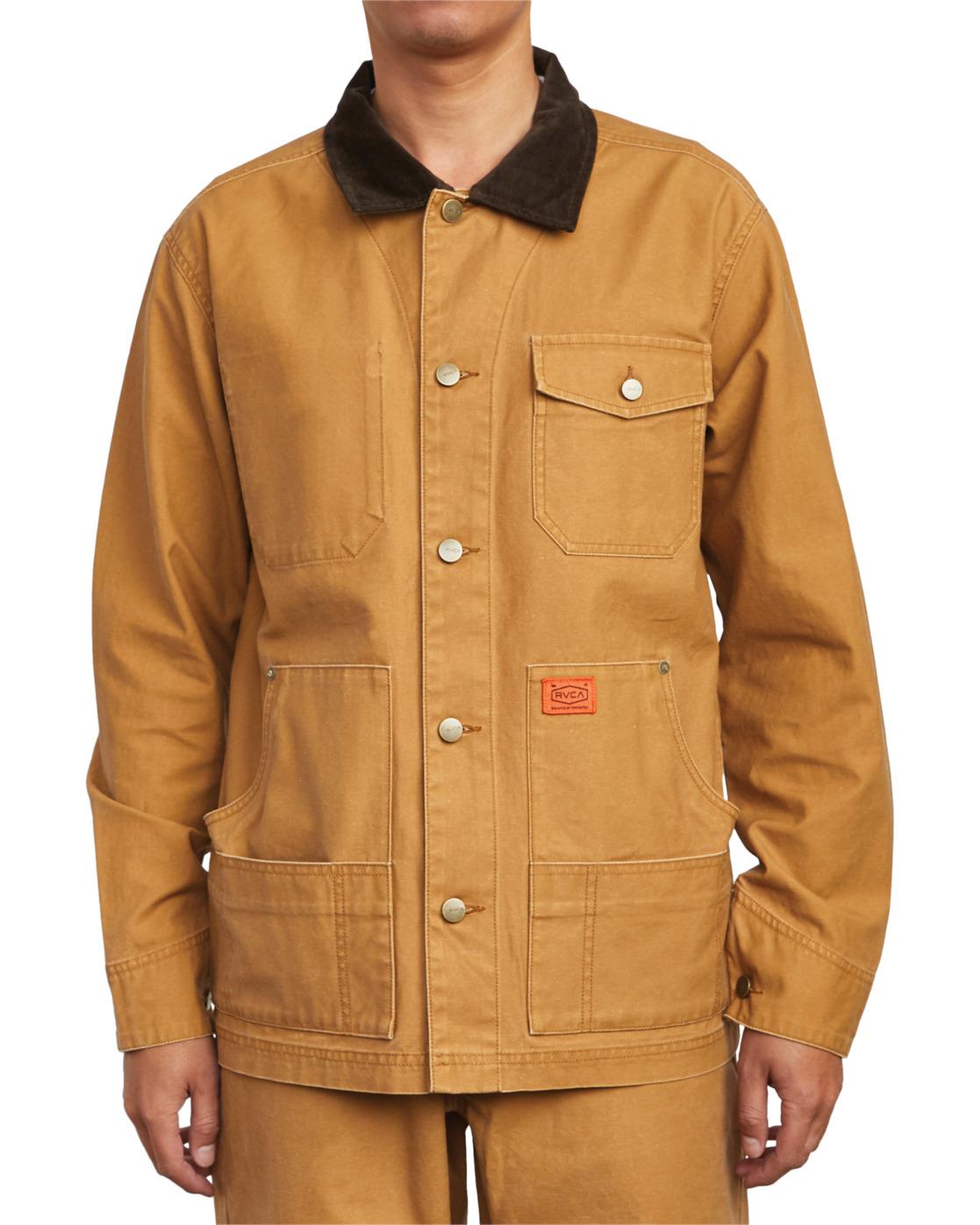 9 Chainmail - Jacke mit Knopfleiste für Männer Gelb U1JKRBRVF0 RVCA