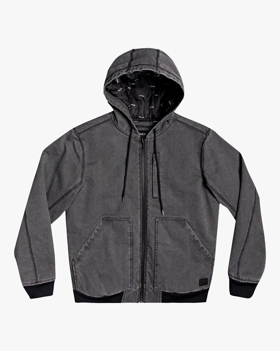 2 Hooded Canvas - Bomber Jacket for Men Black U1JKRKRVF0 RVCA