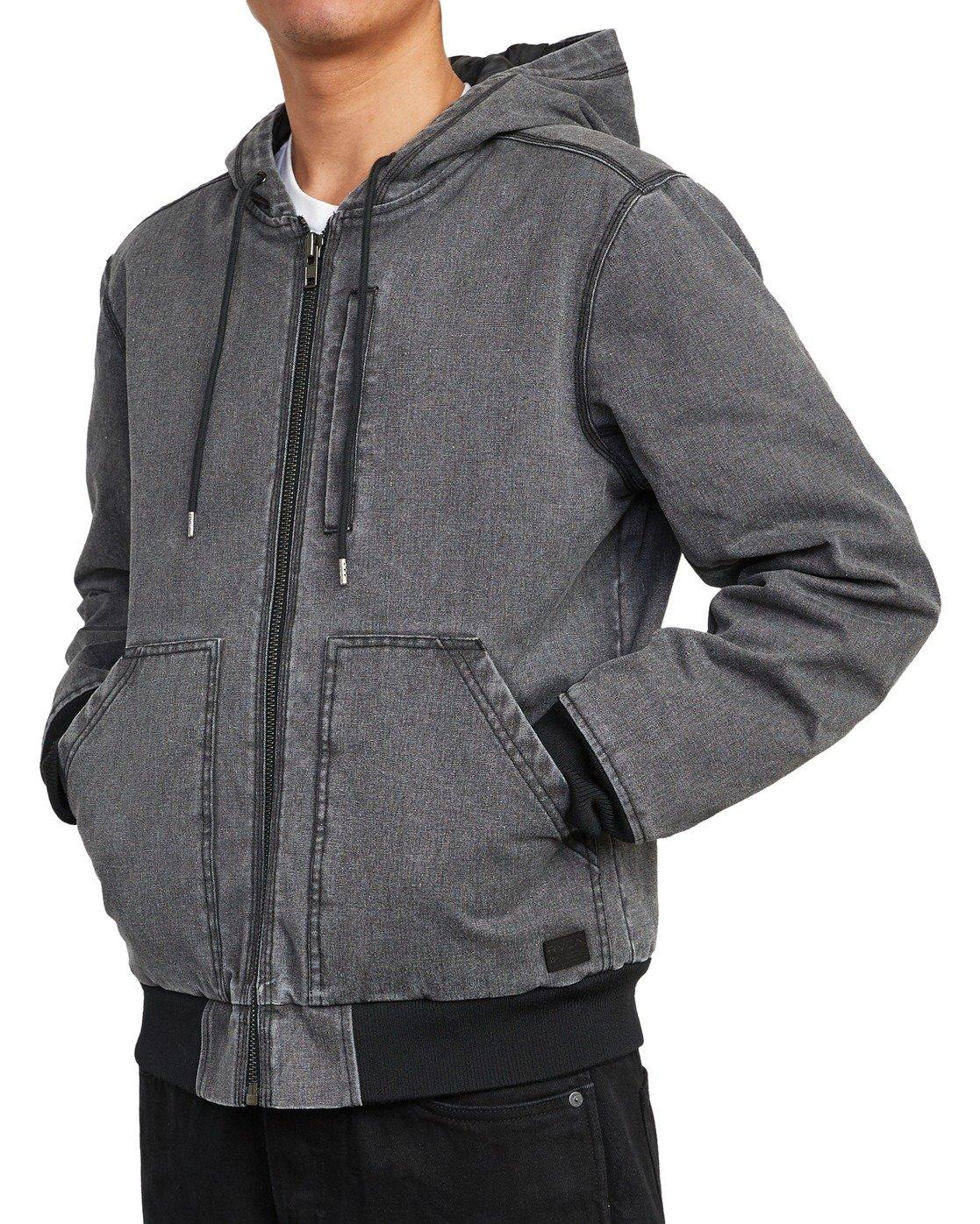 9 Hooded Canvas - Bomber Jacket for Men Black U1JKRKRVF0 RVCA