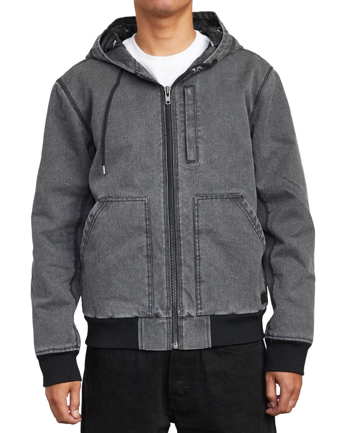 8 Hooded Canvas - Bomber Jacket for Men Black U1JKRKRVF0 RVCA