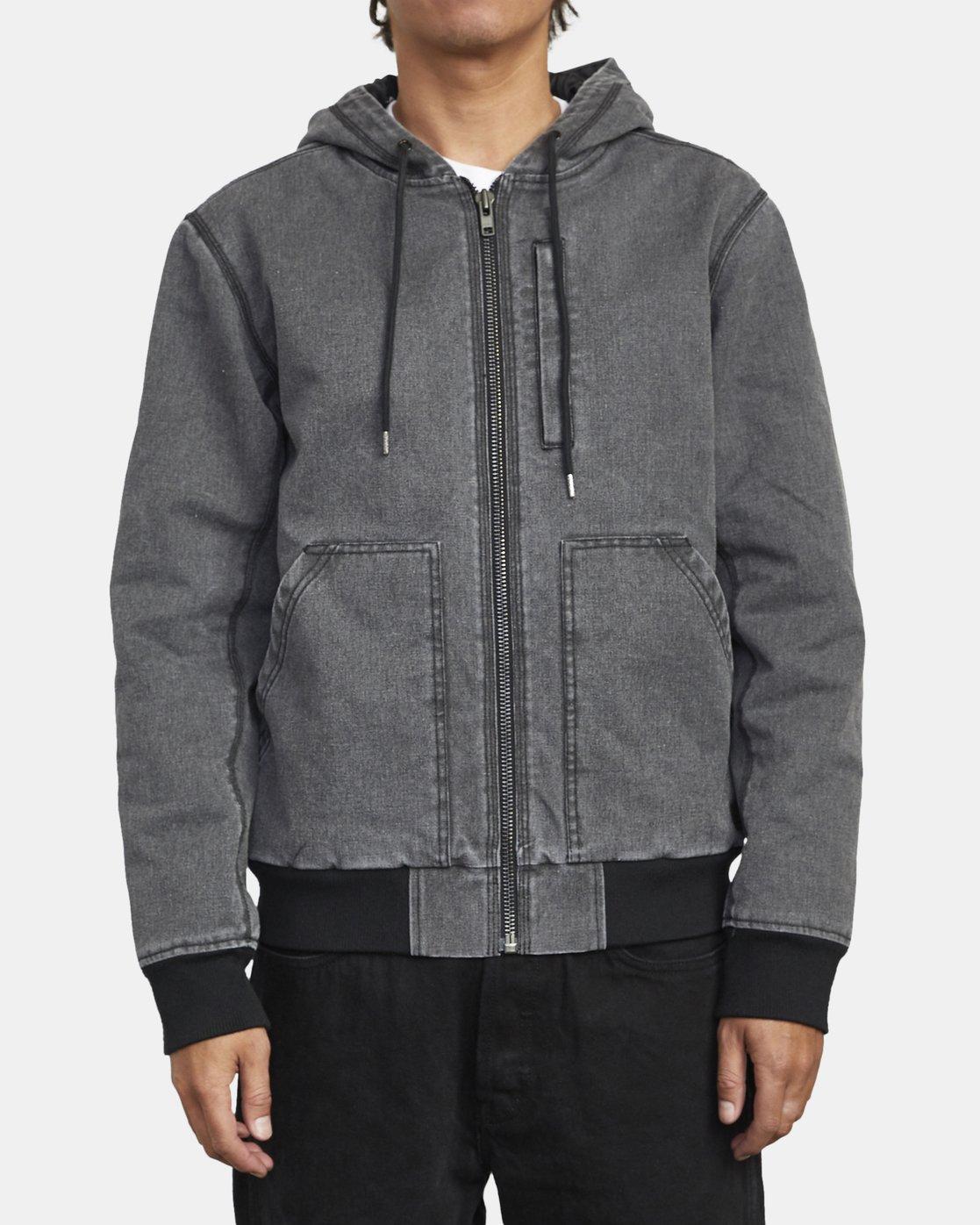 4 Hooded Canvas - Bomber Jacket for Men Black U1JKRKRVF0 RVCA