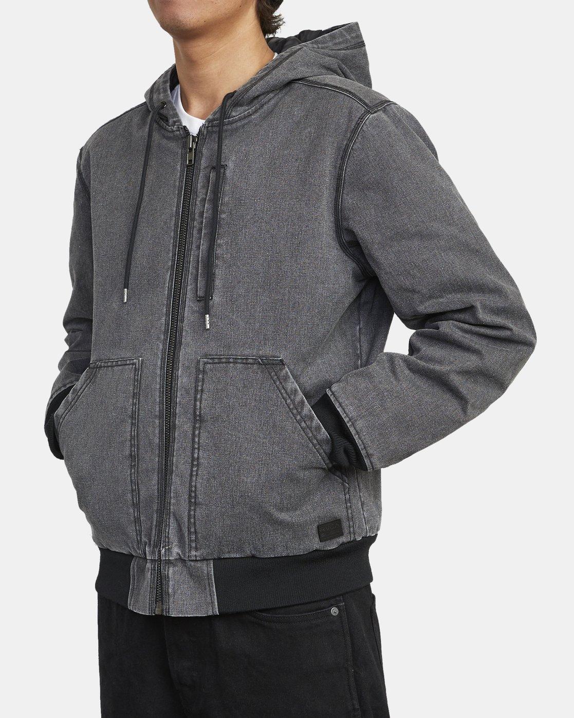 6 Hooded Canvas - Bomber Jacket for Men Black U1JKRKRVF0 RVCA