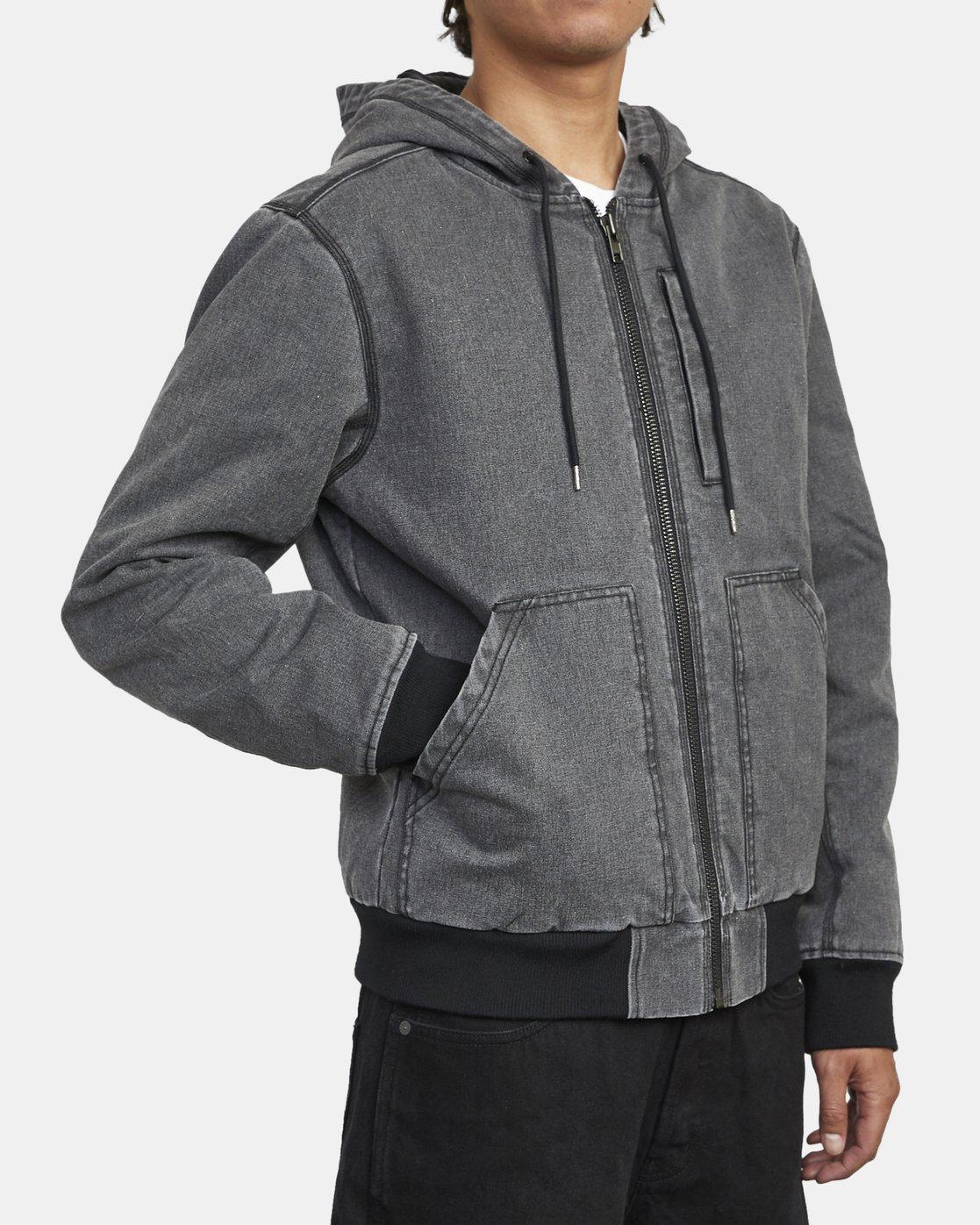 7 Hooded Canvas - Bomber Jacket for Men Black U1JKRKRVF0 RVCA