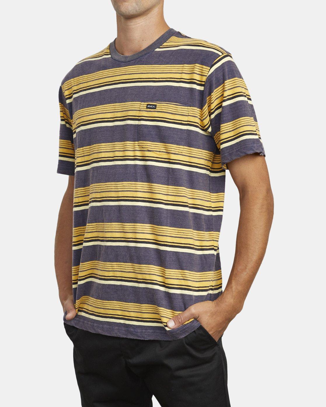 4 Ventura Stripe - Haut manches courtes pour Homme  U1KTRBRVF0 RVCA