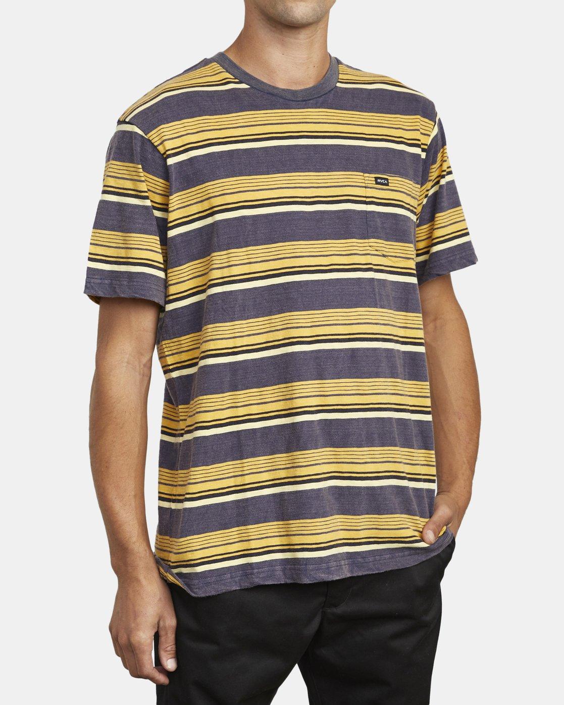 5 Ventura Stripe - Haut manches courtes pour Homme  U1KTRBRVF0 RVCA