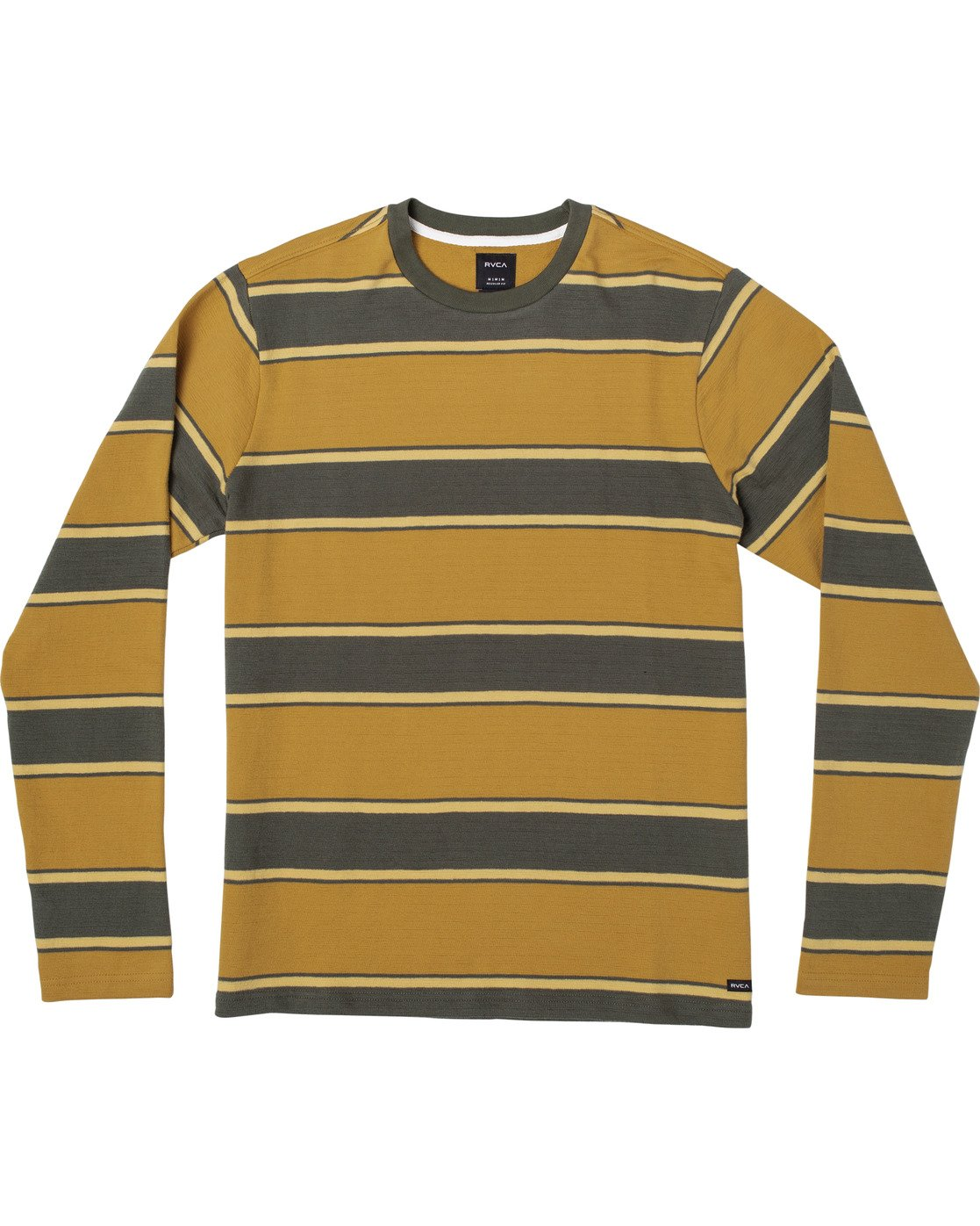 0 Reducer Stripe - Long Sleeve Top for Men Green U1KTRGRVF0 RVCA