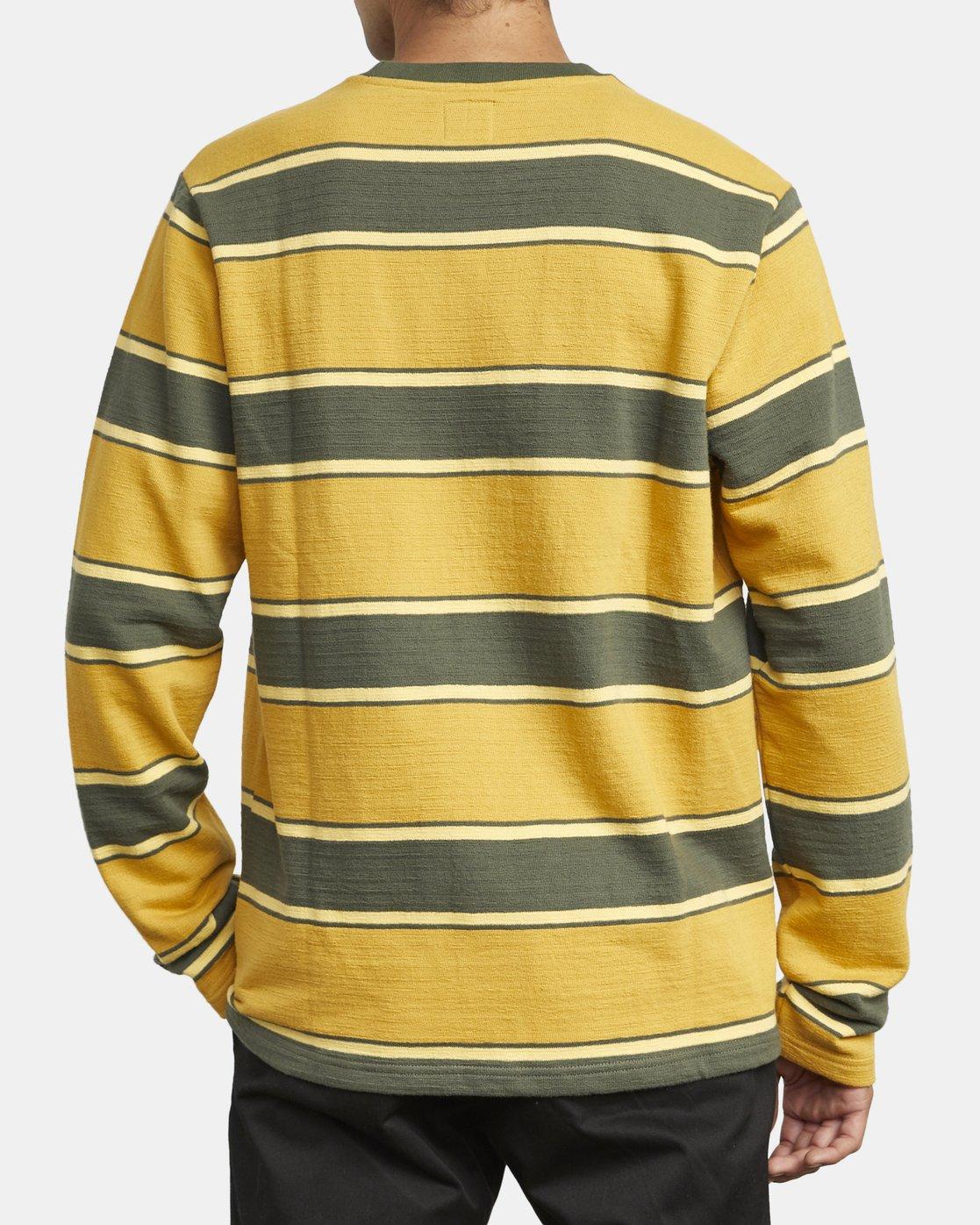 3 Reducer Stripe - Long Sleeve Top for Men Green U1KTRGRVF0 RVCA