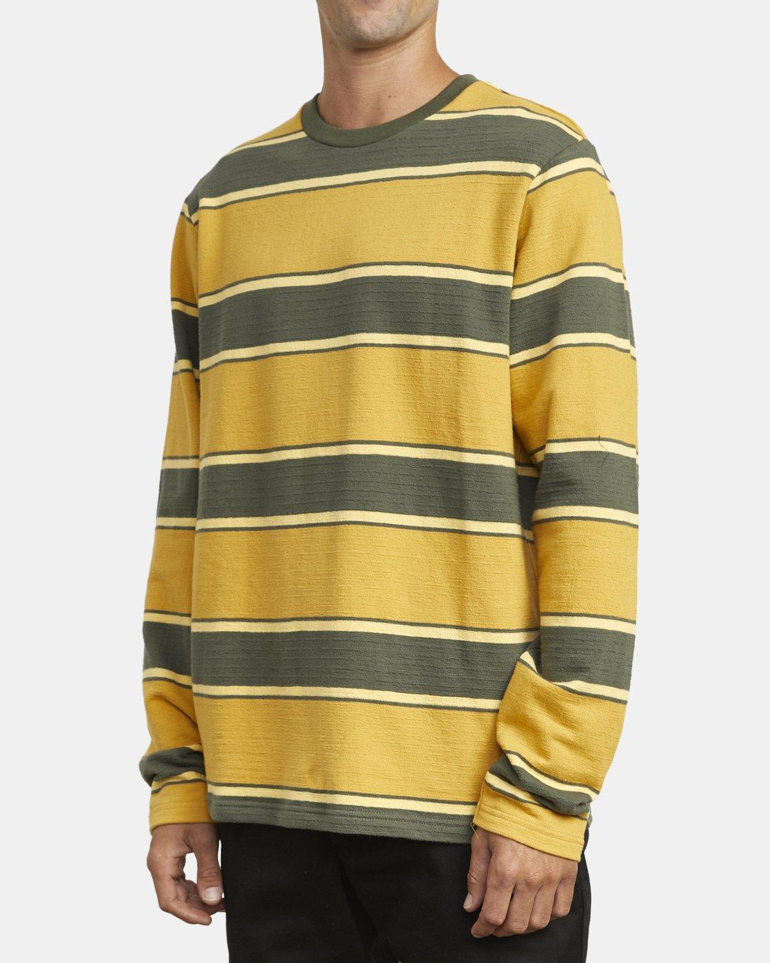 4 Reducer Stripe - Long Sleeve Top for Men Green U1KTRGRVF0 RVCA
