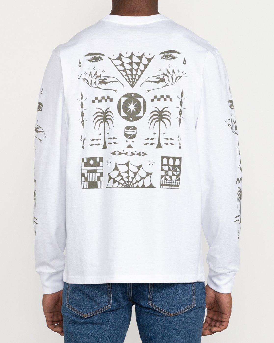 4 Jesse Brown Vision Flash - T-shirt pour Homme Blanc U1LSRERVF0 RVCA