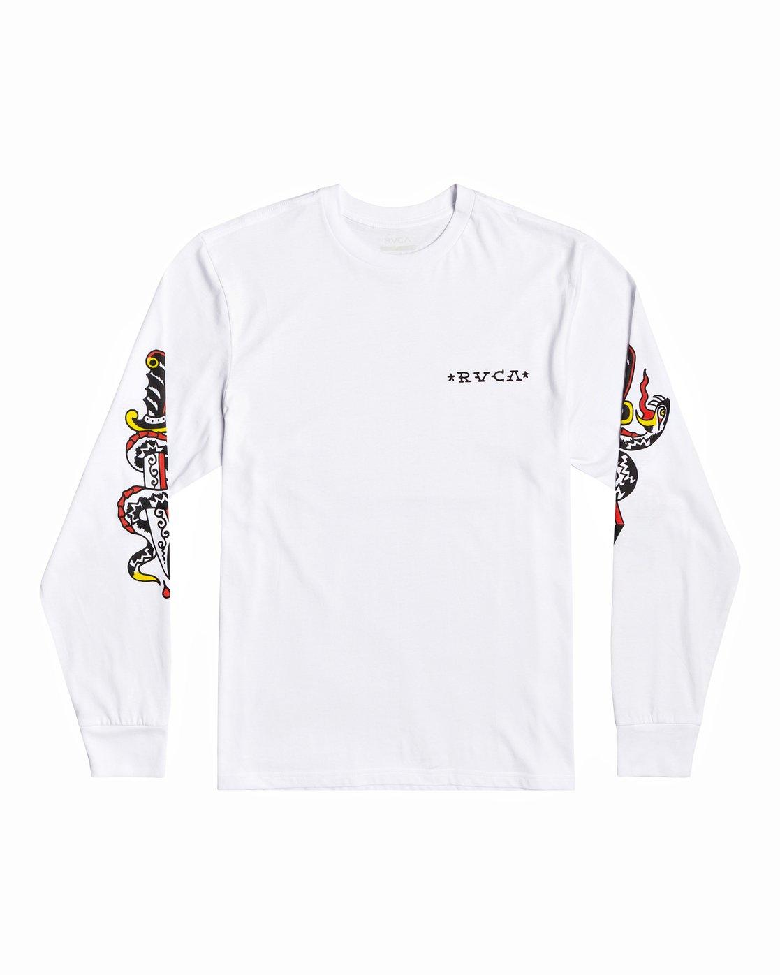 0 Bert Krak Krak Daggers - T-Shirt for Men White U1LSRFRVF0 RVCA