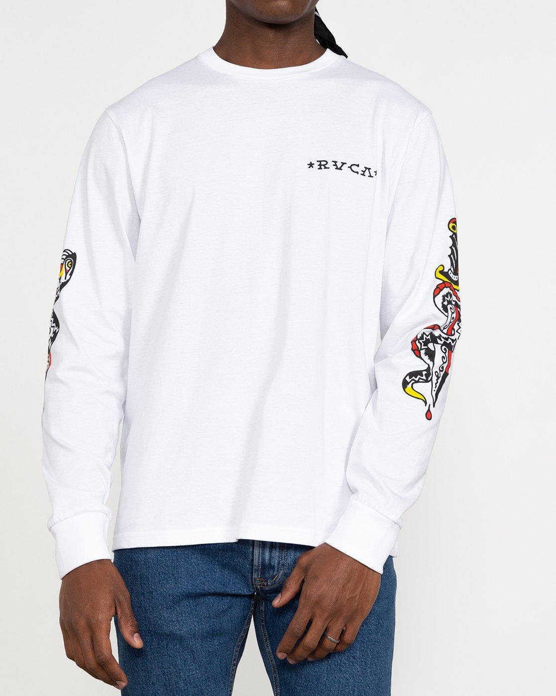 2 Bert Krak Krak Daggers - T-Shirt for Men White U1LSRFRVF0 RVCA