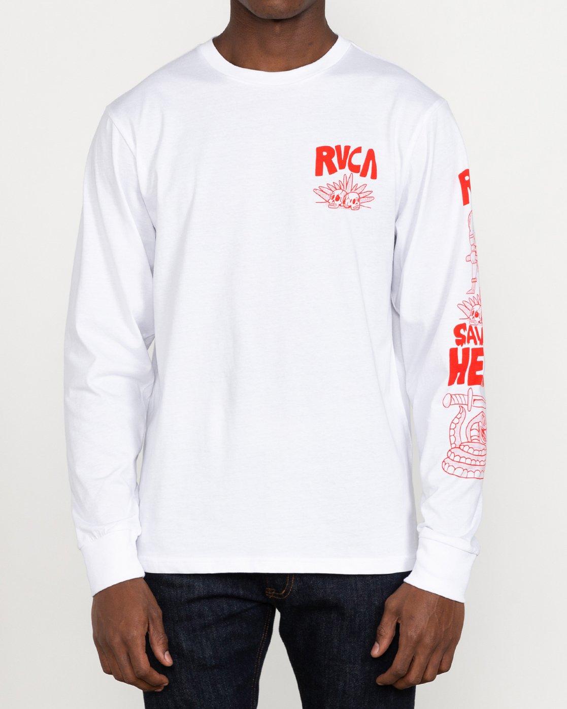 6 Grant Kratzer Barbarian - Long Sleeve T-Shirt for Men White U1LSRGRVF0 RVCA