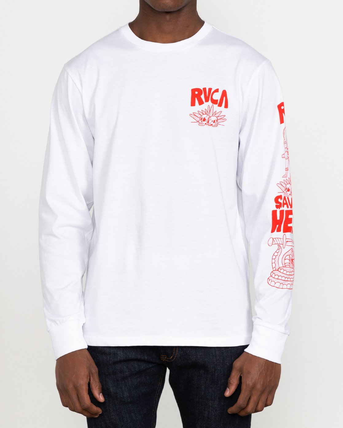 2 Grant Kratzer Barbarian - Long Sleeve T-Shirt for Men White U1LSRGRVF0 RVCA