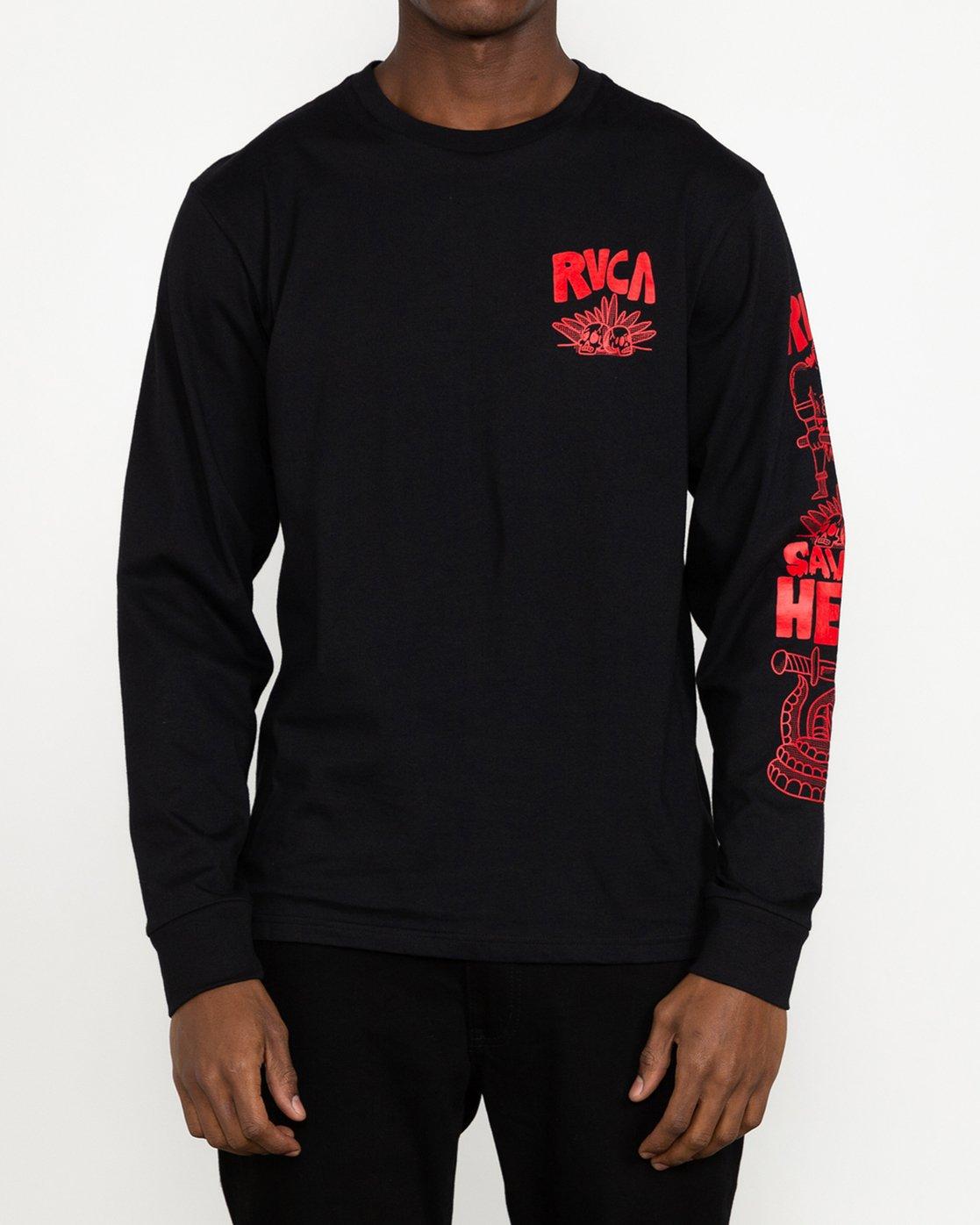 4 Grant Kratzer Barbarian - T-shirt manches longues pour Homme Noir U1LSRGRVF0 RVCA