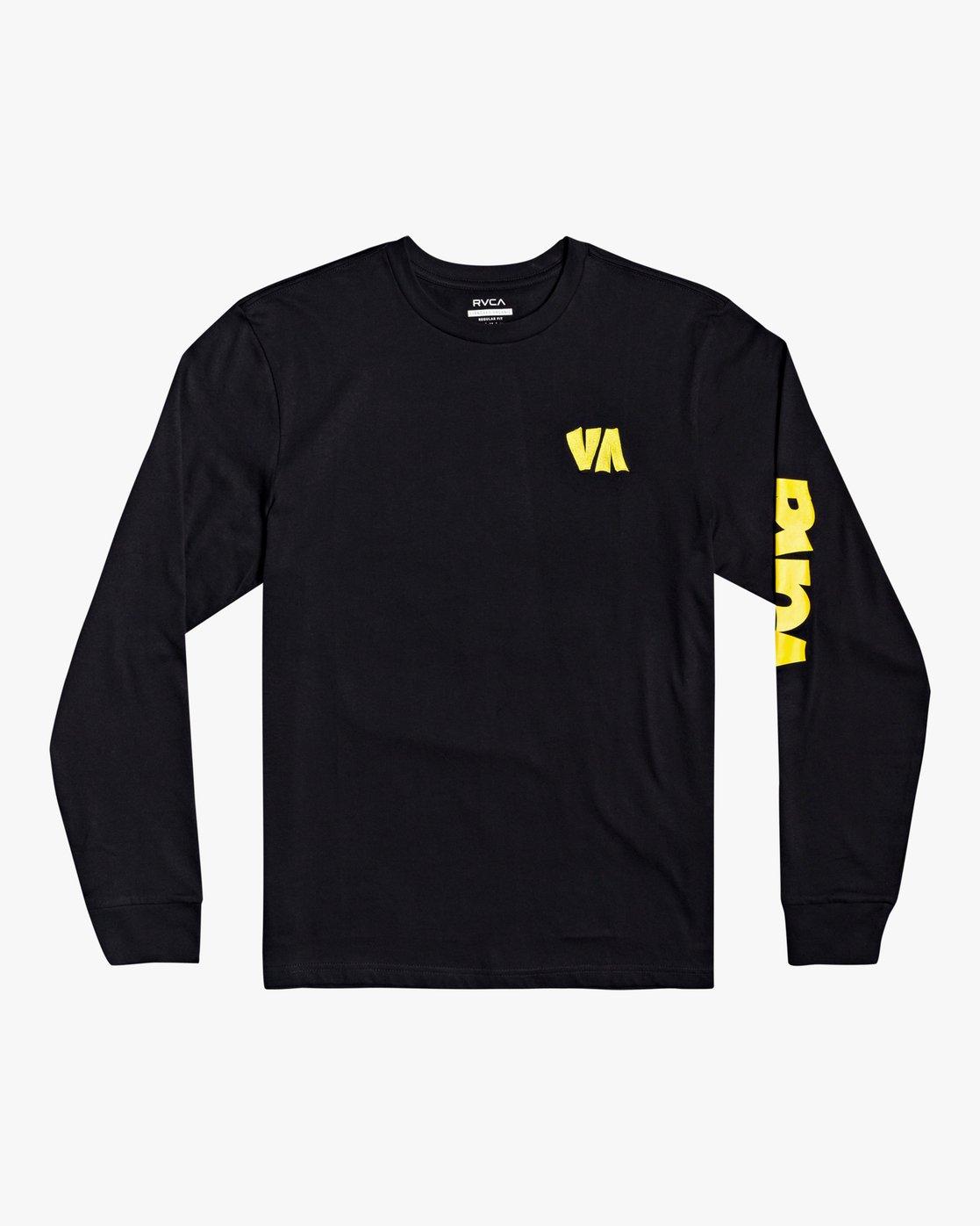 0 Roberto Rodriguez Redondo - Long Sleeve T-Shirt for Men Black U1LSRKRVF0 RVCA