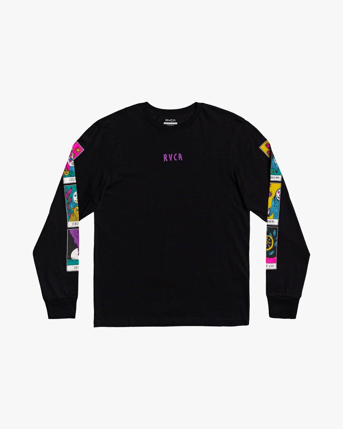 2 Superblast Tarot - Long Sleeve T-Shirt for Men Black U1LSSARVF0 RVCA