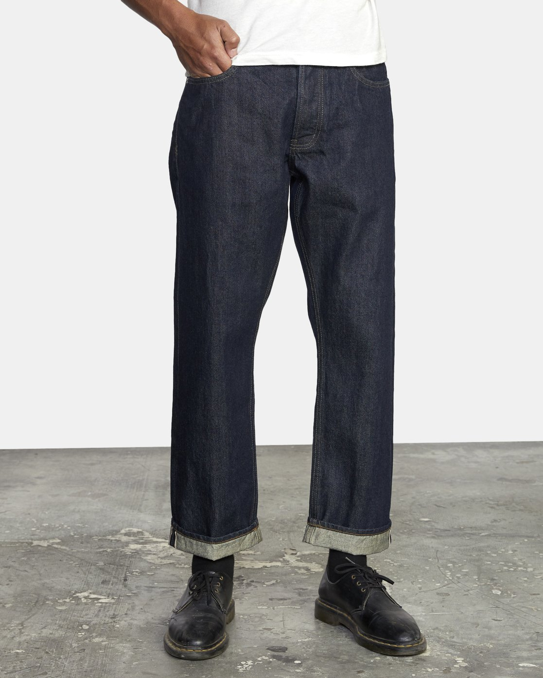 0 New Dawn - Straight Fit Selvedge Jeans for Men  U1PNRNRVF0 RVCA